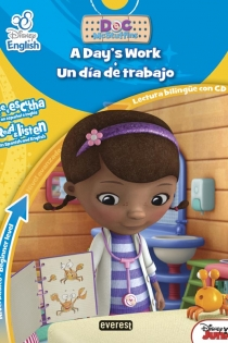 Portada del Disney English. Doctora Juguetes/ Doc McStuffins. A day?s work / Un día de trabajo. Nivel básico. Beginner level